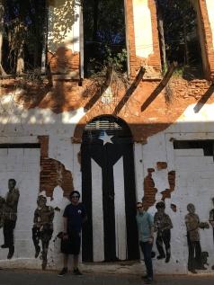 Old San Juan - black flag of mourning