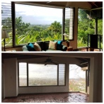 Pedro's brother's living room, before Maria and after Maria.