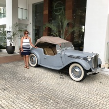 Audrey Hepburn's car while she visited Jamaica!